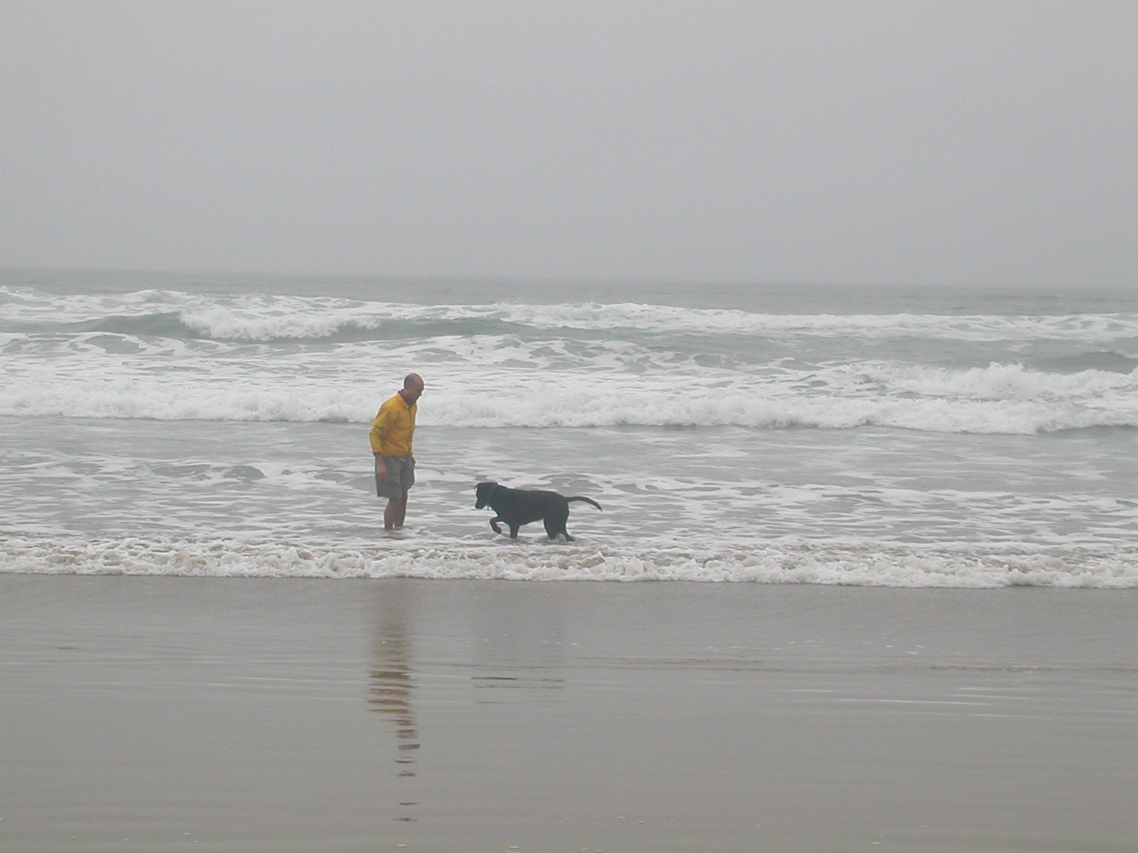 Kyle and Keiko on the beach